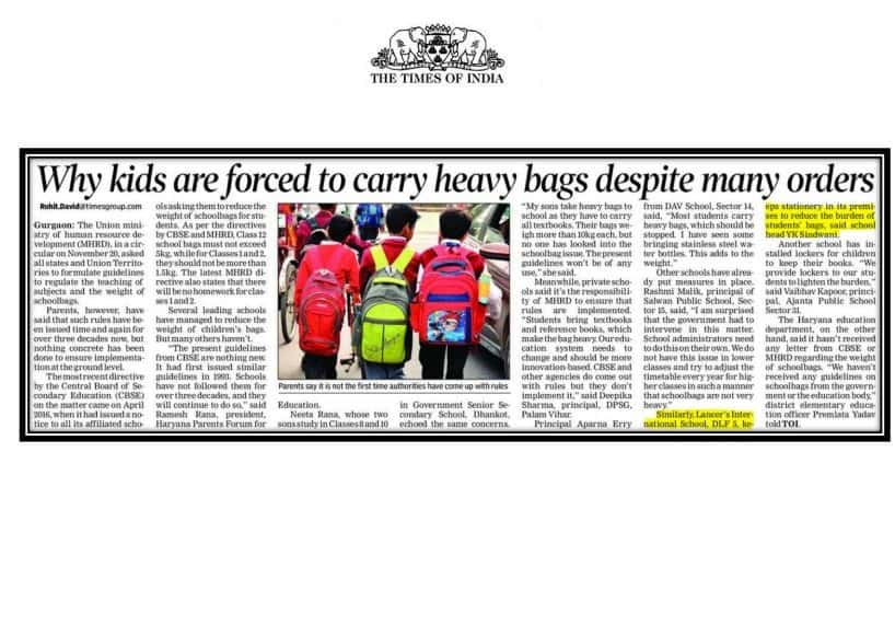 Why kids are forced to carry heavy bags despite many orders- The Times of India