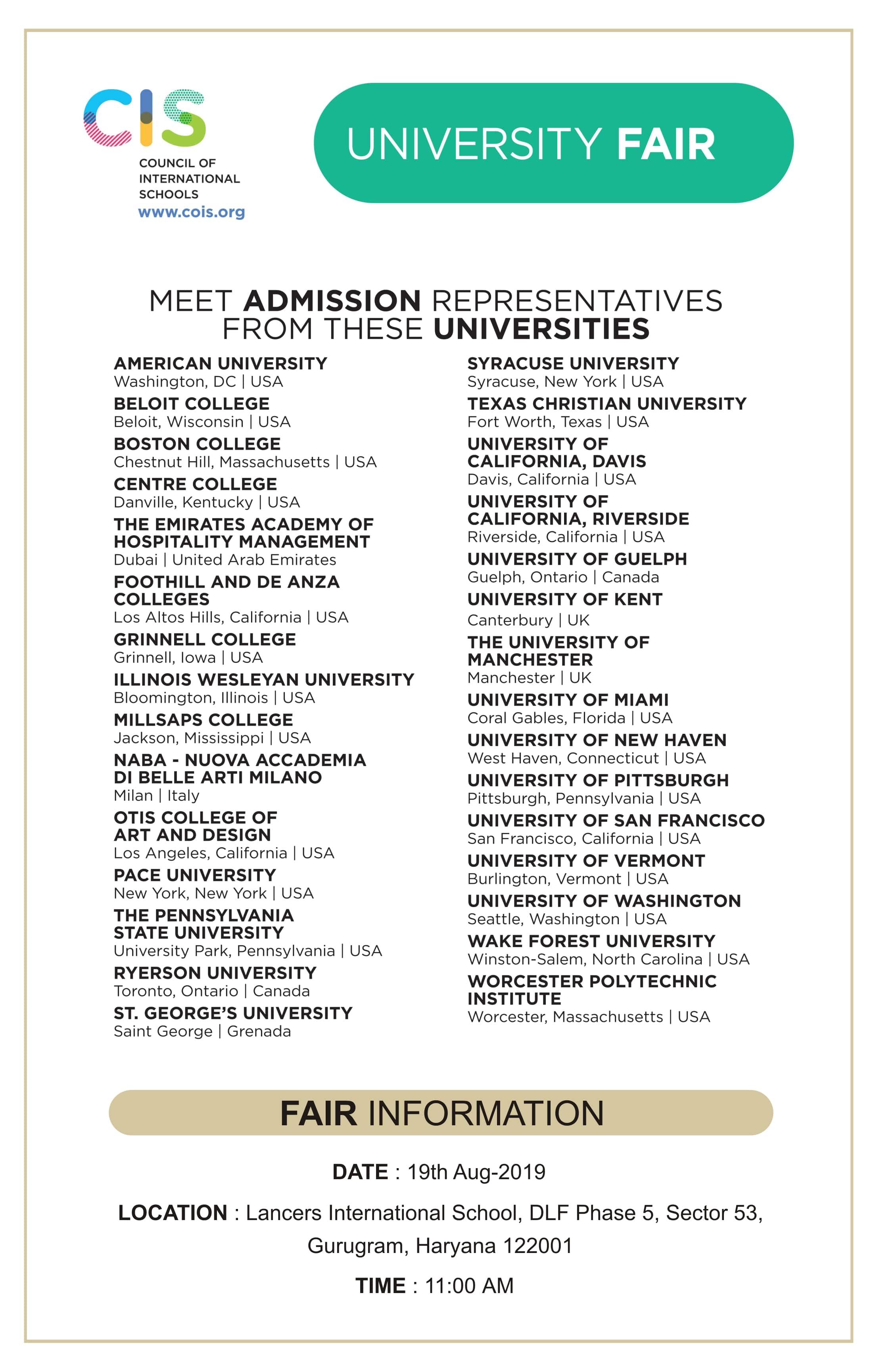 CIS University Fair
