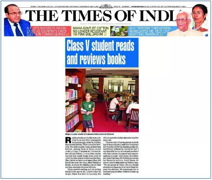 Class V students reads and reviews books – THE TIMES OF INDIA