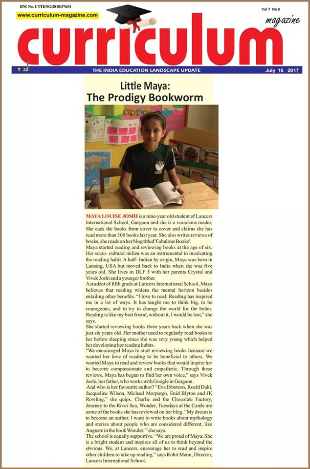 Little Maya -The Prodigy Bookworm – Curriculum
