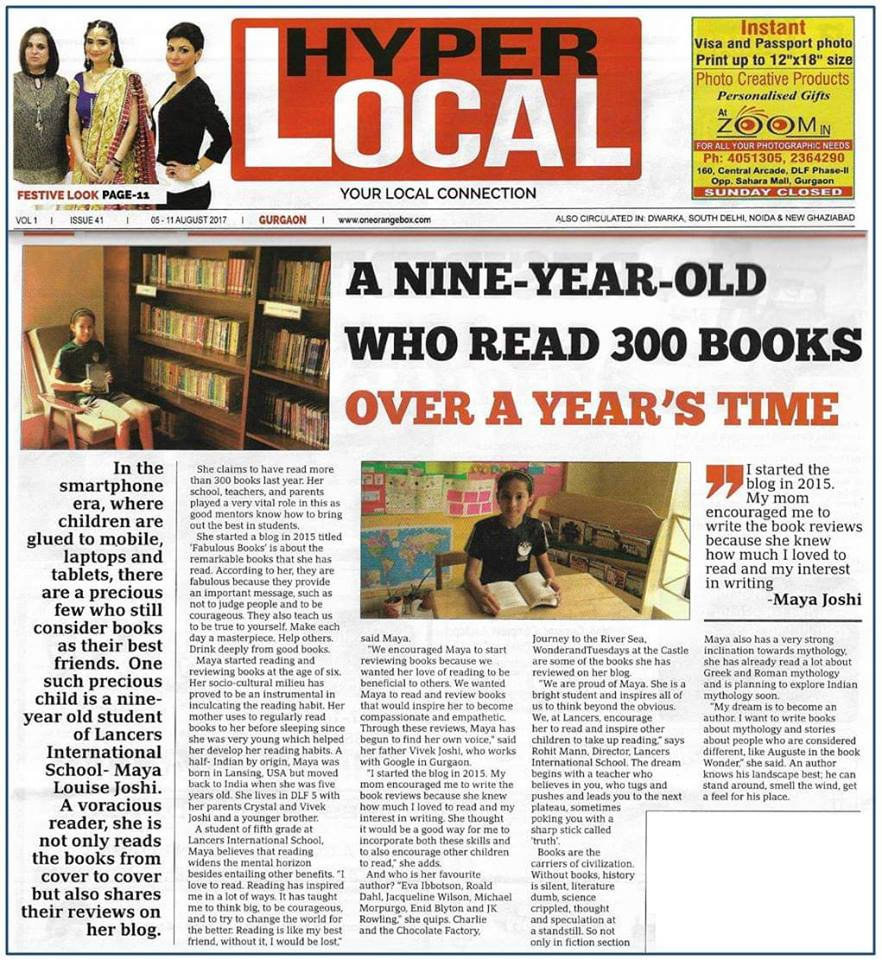 Nine-year-old read 300 books over a year's time