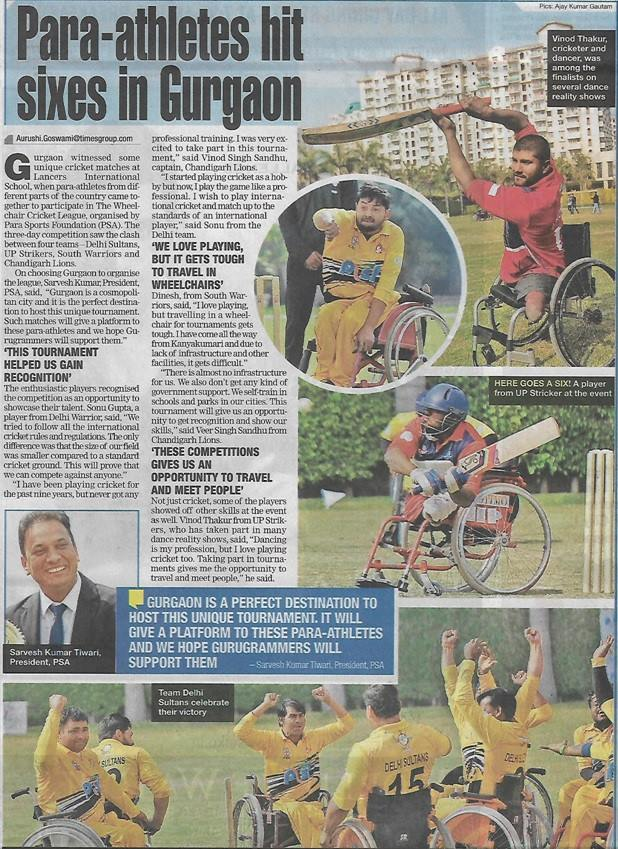 Para–athletes hit Sixes in Gurugram