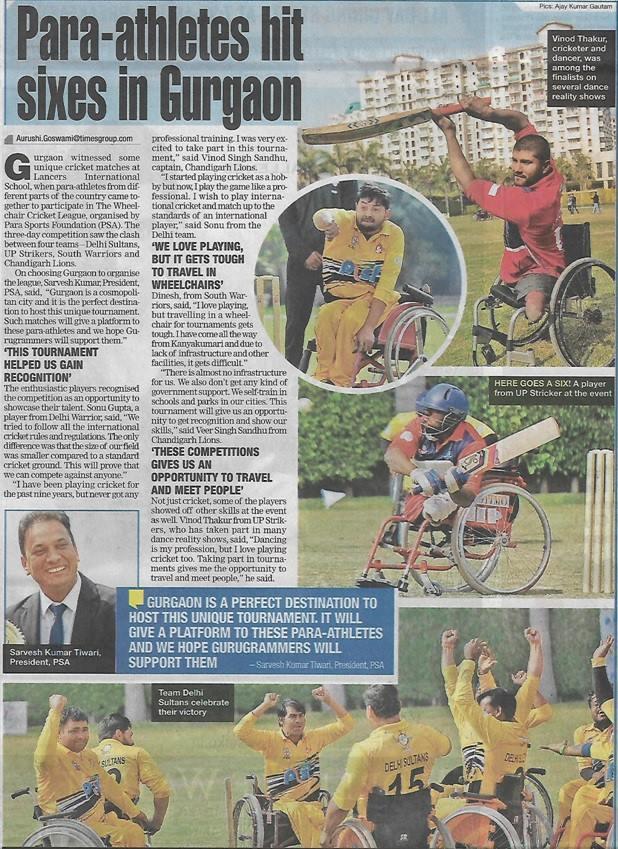 Para–athletes hit Sixes in Gurugram