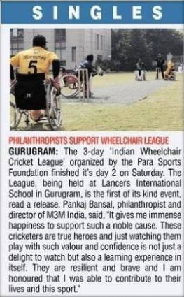 Philanthropists support Wheelchair League