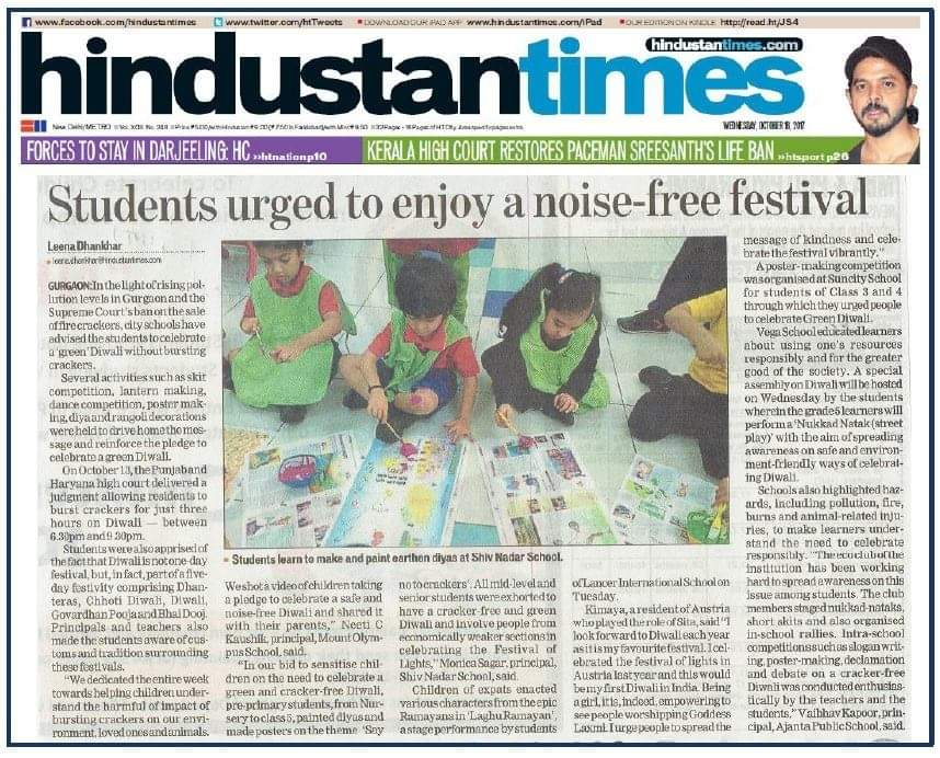 Students celebrated noise – free festival – HINDUSTAN TIMES